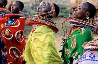 Kenya, Mount Kenya, Laikipia plateau, Samburu Ethnic Group Village, ritual folk dance