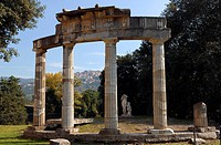 Italy, Lazio, Tivoli, Villa Adriana built on the order of Emporer Hadrien in the 2nd century, Temple of Venus