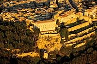France, Vaucluse, Luberon, Lauris, castle aerial view