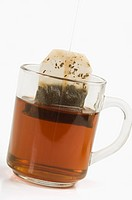 Close_up of a cup of tea with teabag