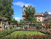 Castle Church of St. Marien on Mainau Island, Lake Constance, Konstanz district, Baden_Wuerttemberg, Germany, Europe