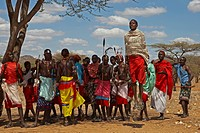 Dancing Samburu, Samburu National Reserve, Kenia, Africa