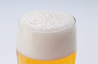 Close_up of a beer glass