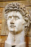 Caesar Augusto head statue.Courtyard of the Pigna. Vatican Museums, Vatican City, Rome. Italy