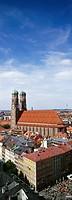 View of Munich Cathedral, Munich, Bavaria, Germany