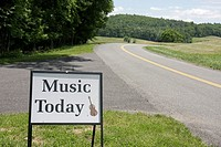 Virginia, Appalachian Mountains, Blue Ridge Parkway, All-American Road, National Scenic Byway, Blue Ridge Music Center, sign, music, entrance