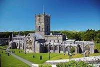 St Davids Cathedral, St Davids, Pembrokeshire, Wales, UK