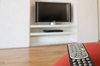 Close up of TV remote control