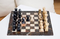 Close up of chess board (thumbnail)