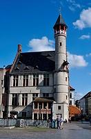 Belgium, Flanders, Ghent, Market Square, Het Toreken