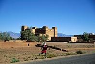 Morocco, High Atlas, Dades Valley, Skoura Oasis near Ouarzazate, Amerhidil Kasbah