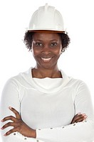 Woman engineer smiling