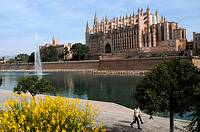 Gothic cathedral, Palma de Mallorca, Majorca, Balearic Islands, Spain