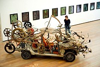 Switzerland, Basel Museum Tinguely, Safari Death Moscow by the artist AurelioZen 1989