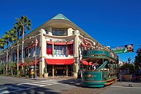 United States, California, Los Angeles, Beverly Hills, The Grove, Shopping and activity Center, Tourist Trolley