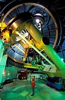 France, Hautes Pyrenees, Pic du Midi de Bigorre 9 422,57 ft, 2 M telescope in the Pic du Midi´s observatory