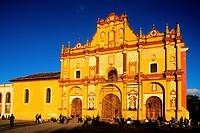 Mexico, Chiapas State, cathedral of San Cristobal de las Casas