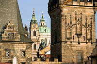 Czech Republic, Prague, historical centre listed as World Heritage by UNESCO, Charles Bridge Karluv Most or Karlov Most et St Nicholas Church