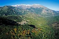 France, Corse du Sud, Maraciole Village aerial view