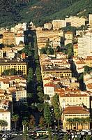 France, Corse du Sud, Ajaccio, Place du Marechal Foch aerial view