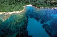 France, Corse du Sud, west of Ajaccio, surroundings of Cap di Feno aerial view