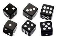 Six black dices