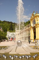 Singing fountain, Marianske Lazne