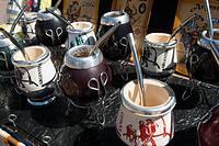 Argentina, Buenos Aires, Plaza de Mayo, Argentine souvenir mate cups