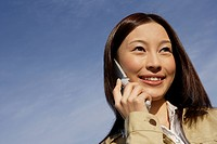 View of young woman using cellphone (thumbnail)