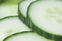 Cucumber Cucumis sativus close_up of slices