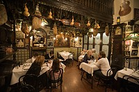 Barcelona, Los Caracoles traditional Restaurant in historic center