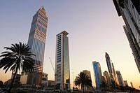 Dubai Sheikh Zayed Road skyscraper skyline Dubai Sheikh Zayed Road skyscraper skyline