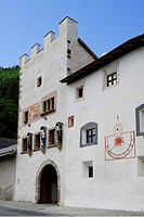wall of monastery of Muestair, Grisons, Switzerland