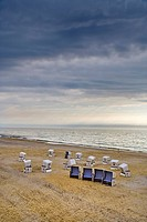 Beach Chair at Beach, Sylt Island, North Frisian Islands, Schleswig_Holstein, Germany