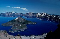 Oregon _ U S A Wizard Island, Crater Lake, Crater Lake National Park, Oregon, U S A S