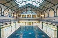 Stadtbad Charlottenburg, City baths, swimming pool, 1898, Paul Bratring, Berlin, Germany