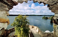 View from Olavinlinna castle at Savonlinna lake, Karelia, Finland, Europe