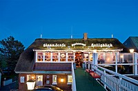 Restaurant in the evening, Nordstrand Island, North Frisian Islands, Schleswig_Holstein, Germany