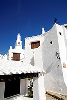 Binibequer Vell, hotel village build in old style, Minorca, Balearic Islands, Spain