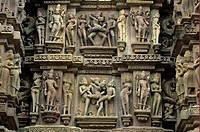 India _ Erotic carvings _ Kandariya Mahadev Temple, Khajuraho