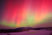 Aurora Borealis or Northern Lights, Yukon.