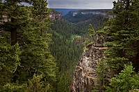 View over The Chasm, a volcanic gorge near Clinton, British Columbia, Canada
