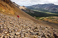 Hiking in the Illgachuz Mountains of Itcha_Illgachuz Park in British Columbia Canada