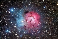 The Trifid Nebula in Sagittarius, M20