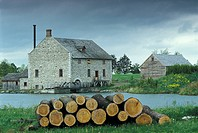 Bellamy«s Steam Flour Mill, Upper Canada Village, Morrisburg, Ontario, Canada