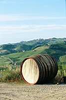 A wine barrel in Italy.