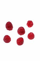 Six raspberries.