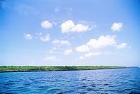 Ocean and coastal strip Zanzibar.