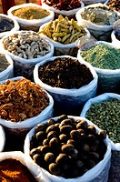 Spices in a market Goa India.