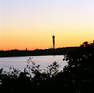 Kaknas tower at twilight Sweden